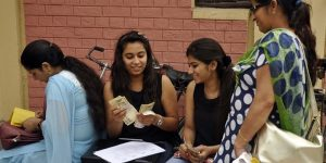 Students depositing fees during first day of College admissions at SD College in Sector 32 of Chandigarh on Monday, July 06 2015. Express Photo by Sahil Walia